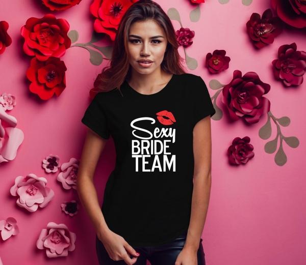 Tricou Petrecerea Burlacitelor - Sexy Bride Team 0