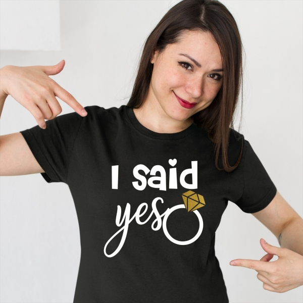 Tricou Petrecerea Burlacitelor - I said yes [1]