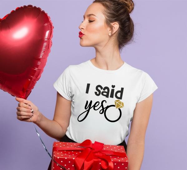 Tricou Petrecerea Burlacitelor - I said yes 0