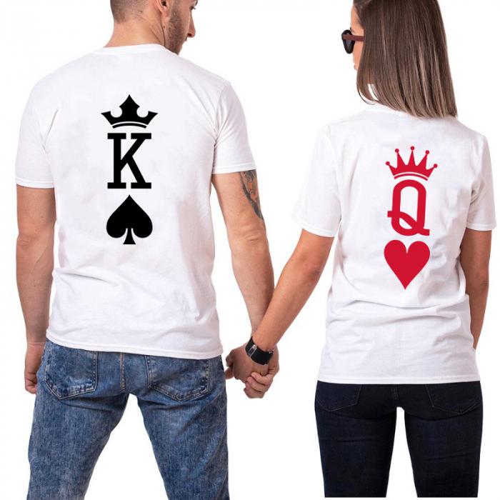 Tricouri Cuplu Personalizate - King and Queen Poker [0]