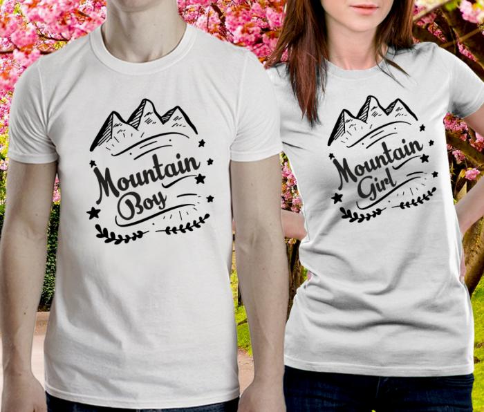 Tricouri personalizate cuplu - Mountain girl/boy [1]