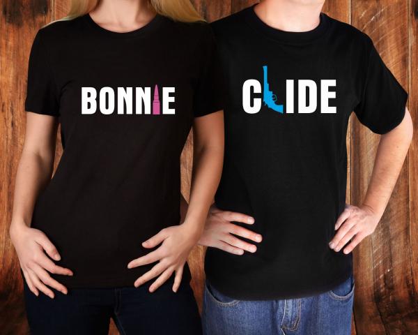 Tricouri Cuplu Personalizate - Bonnie And Clide 0