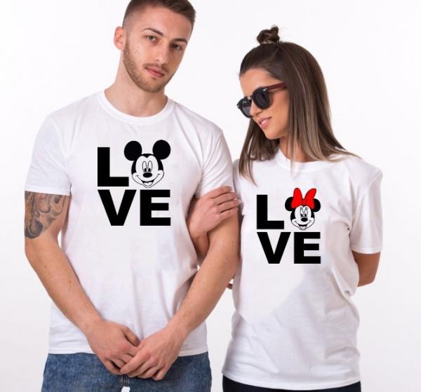 Tricouri Cuplu Personalizate Love - Mickey si Minnie 0