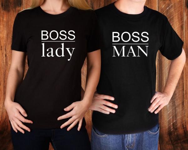 Tricouri Cuplu Personalizate - Boss Man And Boss Lady 1