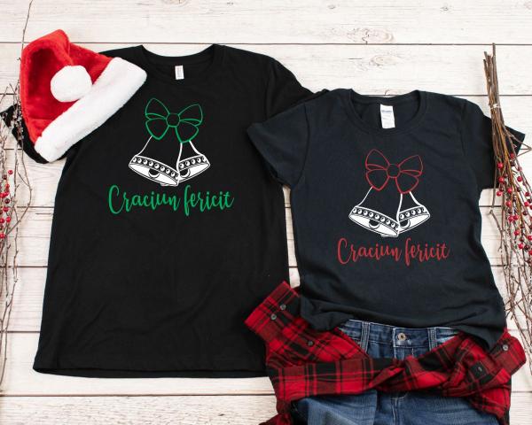 Tricouri Cuplu Personalizate Craciun - Clopotei 1