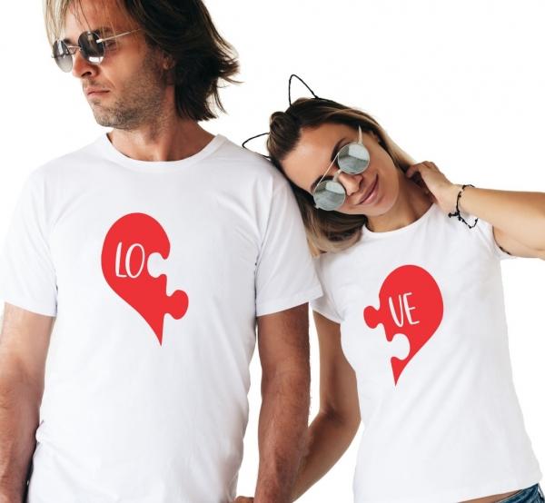 Tricouri Cuplu Personalizate - Love puzzle 0