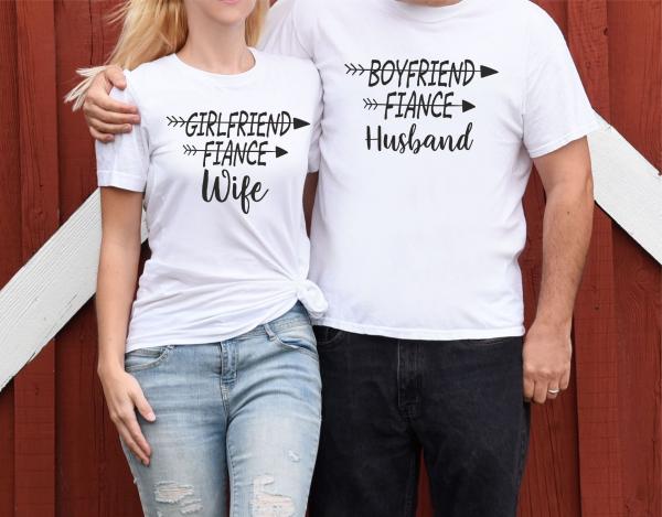 Tricouri Cuplu Personalizate - Husband And Wife 0