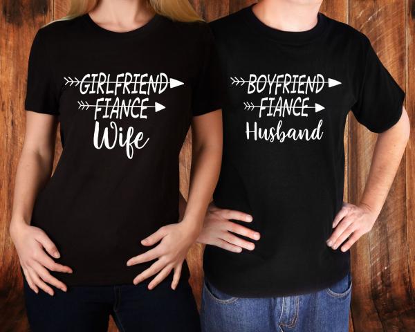 Tricouri Cuplu Personalizate - Husband And Wife 1