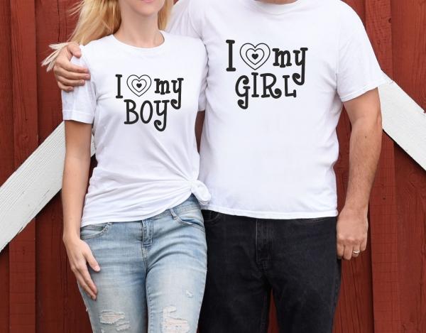 Tricouri Cuplu Personalizate - I love My Boy / Girl 0