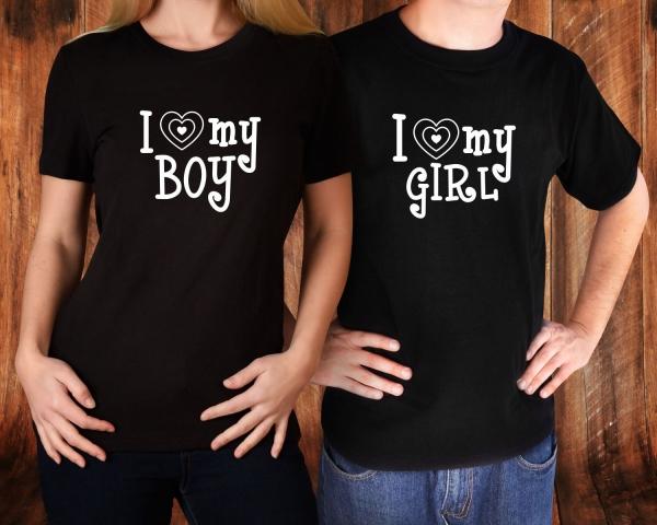 Tricouri Cuplu Personalizate - I love My Boy / Girl 1