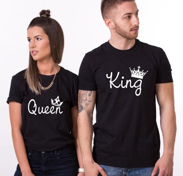 Tricouri Cuplu Personalizate - King and Queen 2 1