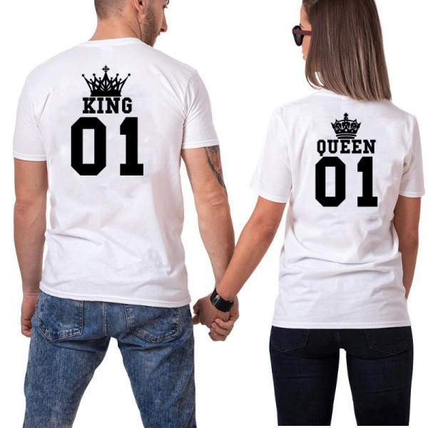 Tricouri Cuplu Personalizate - King and Queen 4 1