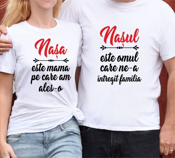 Tricouri Cuplu Personalizate - Nasa Si Nasul 0