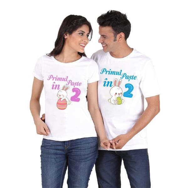 Tricouri Cuplu Personalizate - Primul Paste in 2 [1]