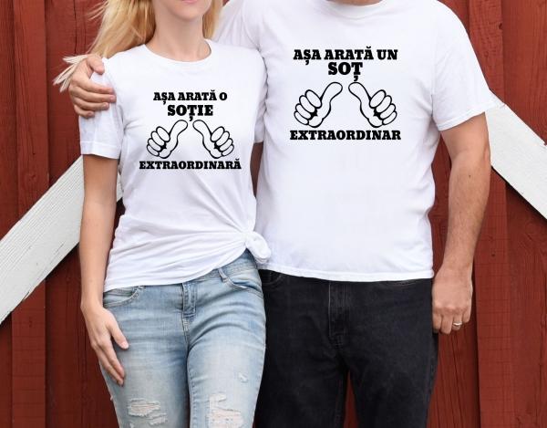 Tricouri Cuplu Personalizate - Soti Extraordinari 1