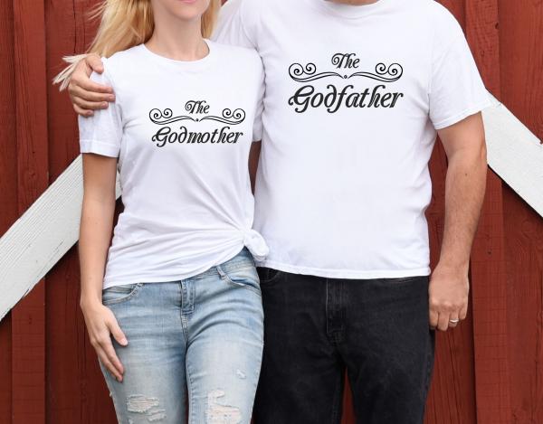 Tricouri Cuplu Personalizate - The Godmother / Godfather 1