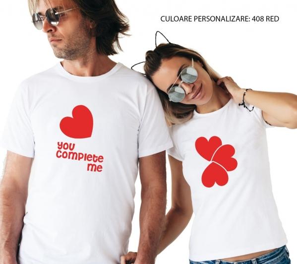 Tricouri Cuplu Personalizate -  You Complete Me 0