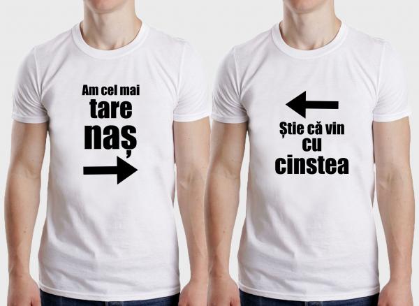 Tricouri Personalizate - Am Cel Mai Tare Nas, Cu Cinstea 1