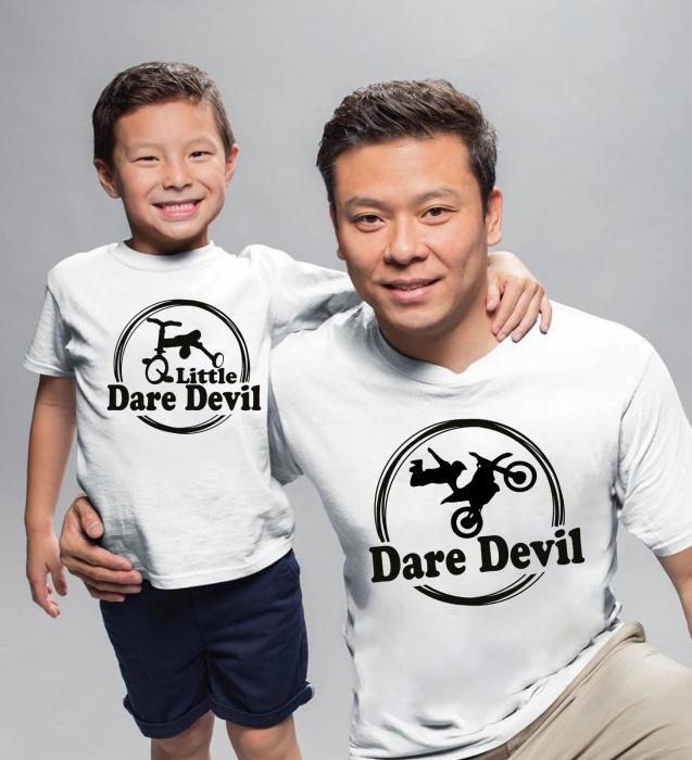 Tricouri Personalizate - Dare Devil And Little Dare Devil [0]