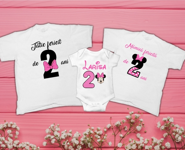 Set Tricouri Personalizate Familie - 2 ani Minnie 0