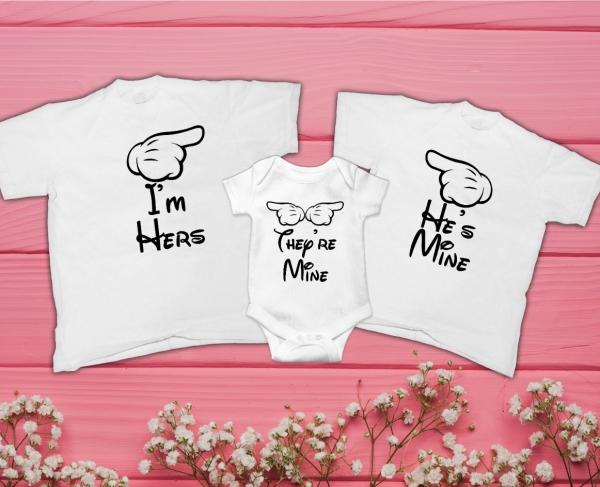 Set Tricouri Personalizate Familie - Al meu / A mea / Ai mei 0