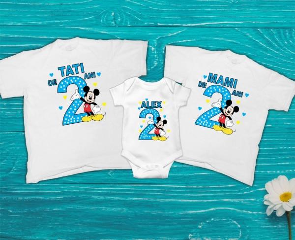 Set Tricouri Personalizate Familie - Aniversare 2 ani Mickey 0