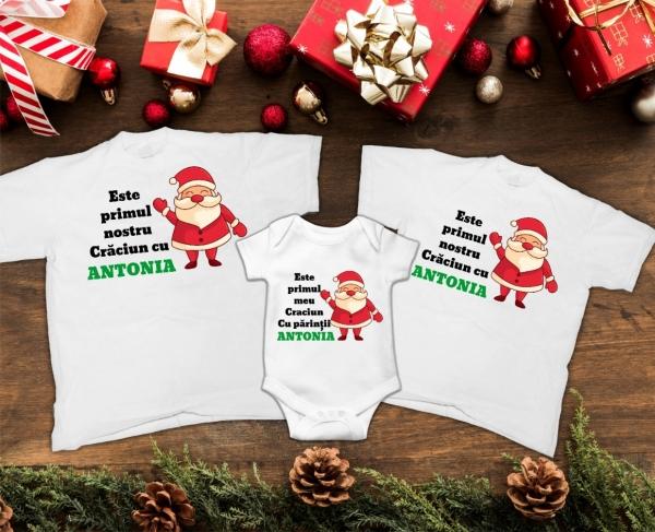 Set Tricouri Personalizate Familie - Primul Craciun 2 0