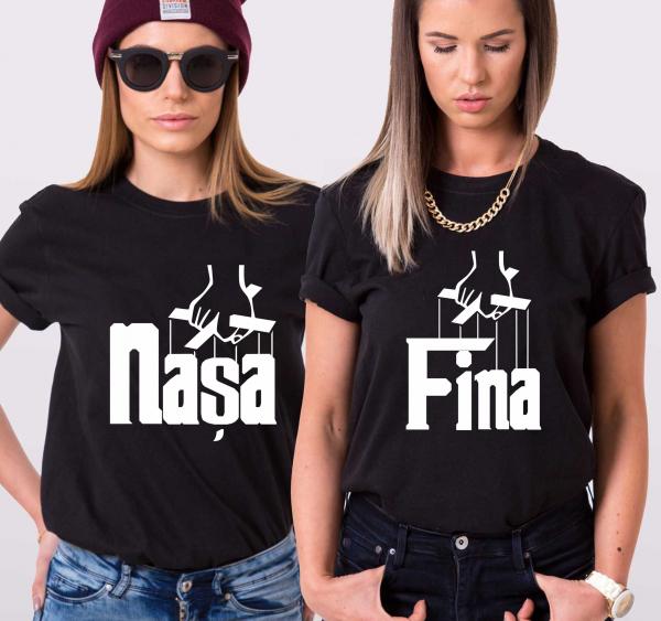 Tricouri Personalizate - Nasa si Fina 1