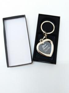 Breloc Metalic Personalizat Cu Poza - Inima2