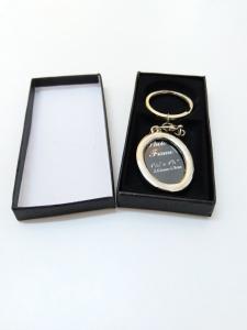Breloc Metalic Personalizat Cu Poza - Oval3