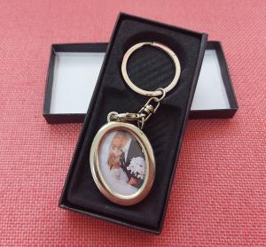 Breloc Metalic Personalizat Cu Poza - Oval0