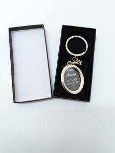 Breloc Metalic Personalizat Cu Poza - Oval2