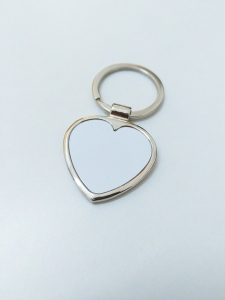 Breloc Metalic Inima Personalizat cu Poza2