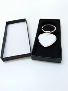 Breloc Metalic Inima Personalizat cu Poza1