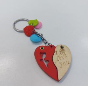 Breloc Personalizat Insertie Foto Lemn I Love You [1]