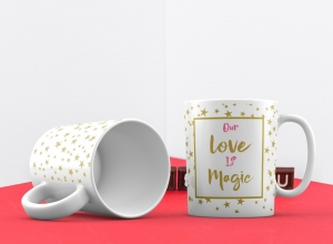 Cana personalizata - Our love is Magic0