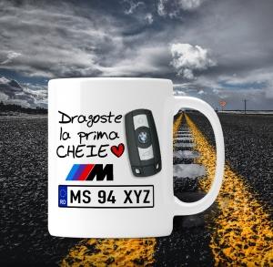 Cana personalizata Auto BMW - Dragoste La Prima Cheie0