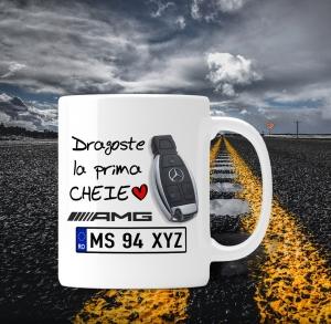 Cana personalizata Auto Mercedes Benz - Dragoste La Prima Cheie0