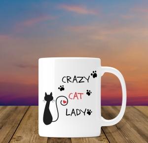 Cana personalizata - Crazy Cat Lady 20