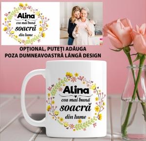 Cana personalizata Cu Poza - Cea Mai Buna Soacra1