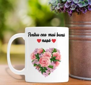 Cana personalizata Cu Poza - Cea Mai Buna Nasa0