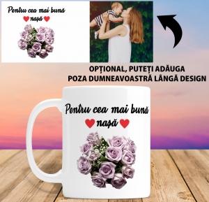 Cana personalizata Cu Poza - Cea Mai Buna Nasa1
