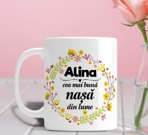 Cana personalizata Cu Poza - Cea Mai Buna Nasa [0]