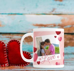 Cana personalizata cu poza si mesaj - Love0