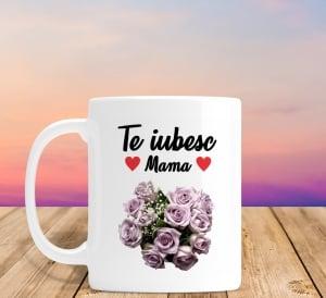 Cana personalizata Cu Poza - Te Iubesc Mama0