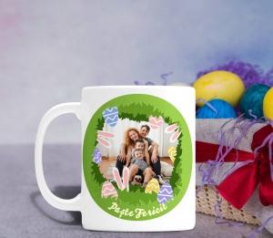 Cana personalizata de Paste Cu Poza - Paste Fericit0
