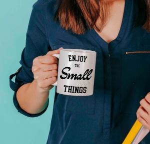 Cana personalizata - Enjoy the small things [0]