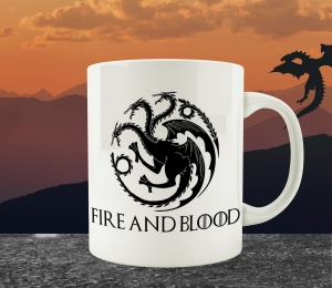 Cana Personalizata Game of Thrones - Fire And Blood House Targaryen0