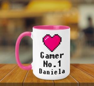 Cana Personalizata - Gamer Girl No. 1 + Nume0