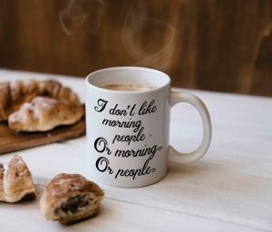 Cana personalizata - I don't like mornings0